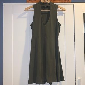 EXPRESS A-line dress olive green size small